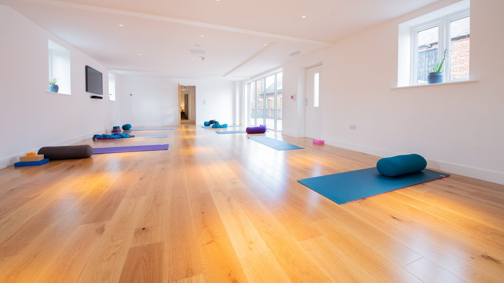Yoga room and mats
